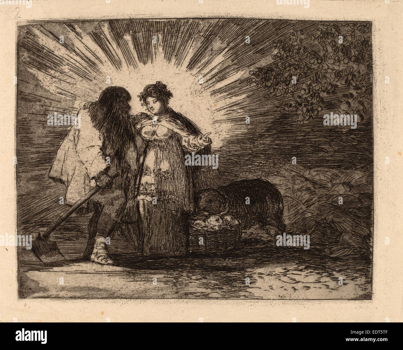 Francisco de Goya, Esto es lo verdadero (This Is the Truth), Spanish, 1746 - 1828, 1810-1820, etching, aquatint, - Stock Image