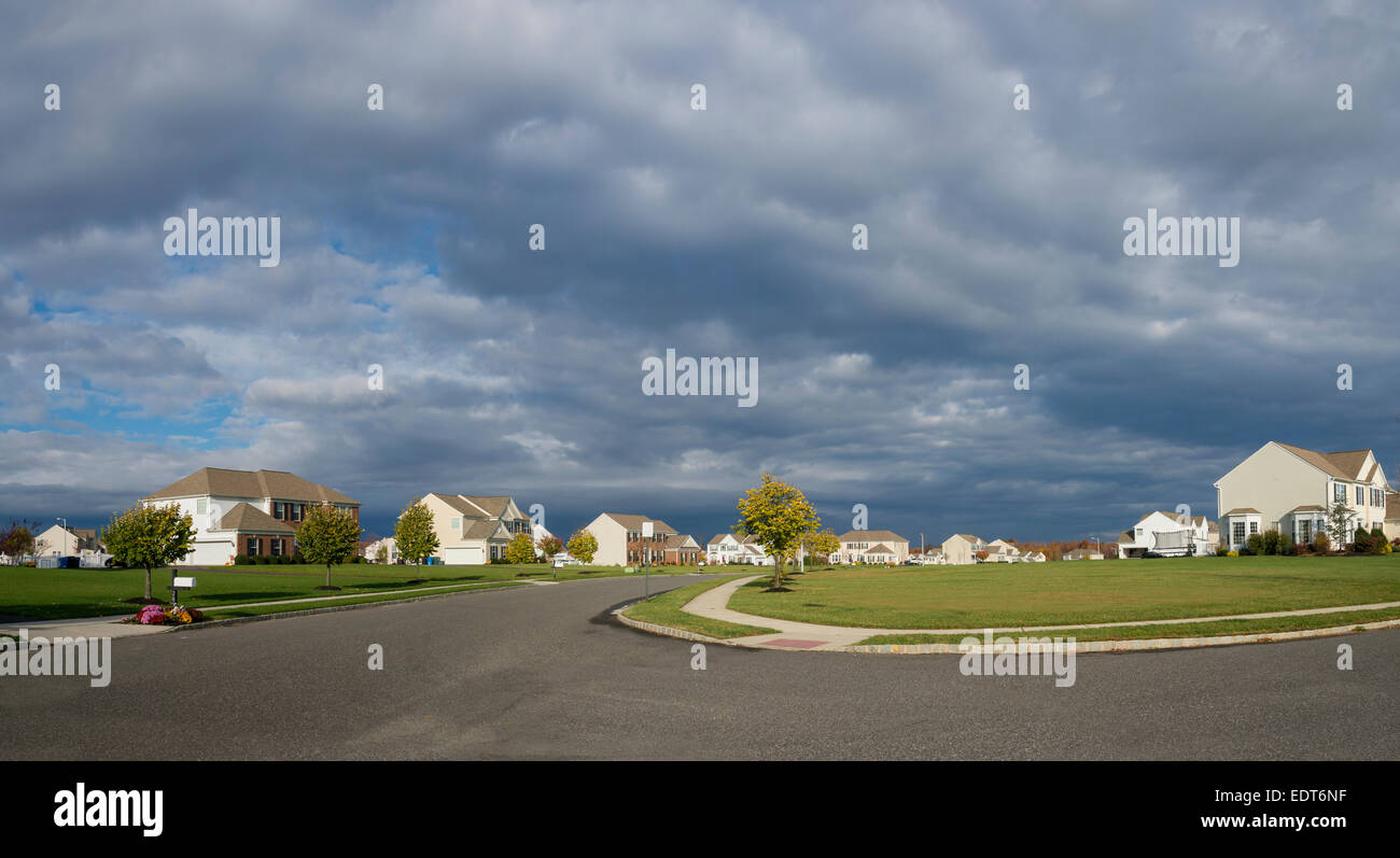 Suburban Neighborhood, Pennsylvania, USA - Stock Image