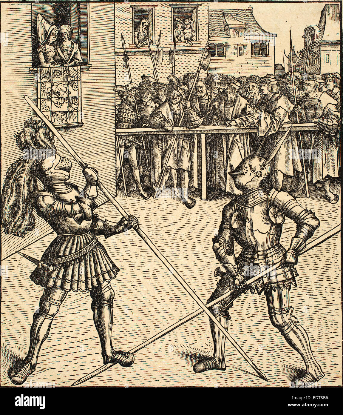 Leonhard Beck (German, c. 1480 - 1542), Tournament on the Occasion of the  Festivity of the Marriage, 1514-1516, woodcut