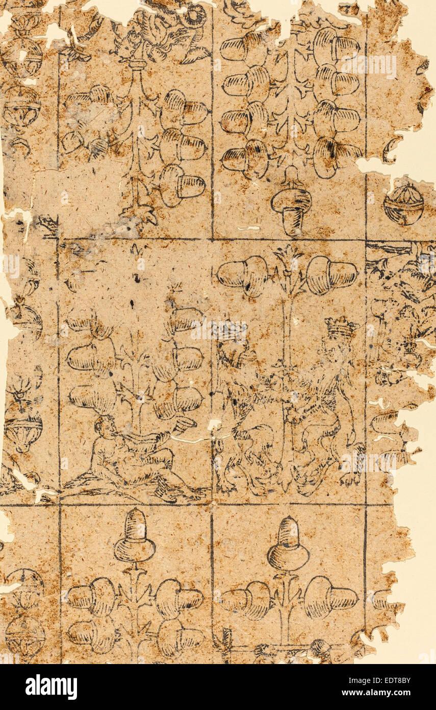 German 16th Century, Playing Card, woodcut Stock Photo