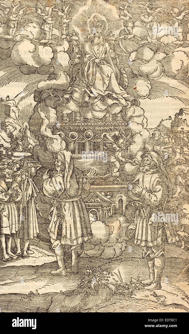 German 16th Century, The Apocalypse, woodcut on laid paper - Stock Image