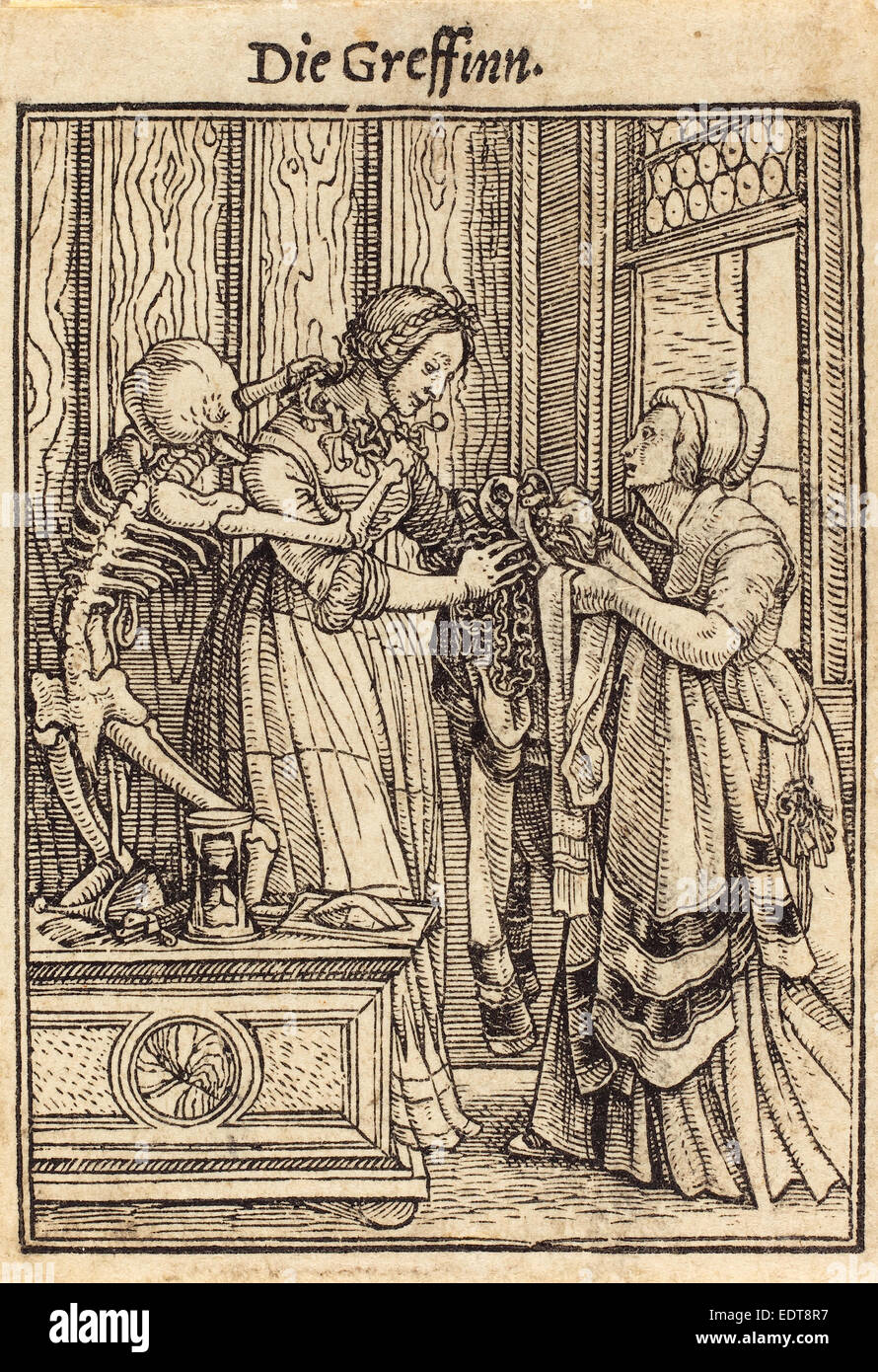 Hans Holbein the Younger (German, 1497-1498 - 1543), Countess, woodcut