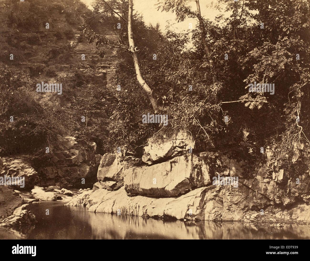 G.B. Gething (British, active c.1850s), River Scene, c. 1855, salted paper print - Stock Image