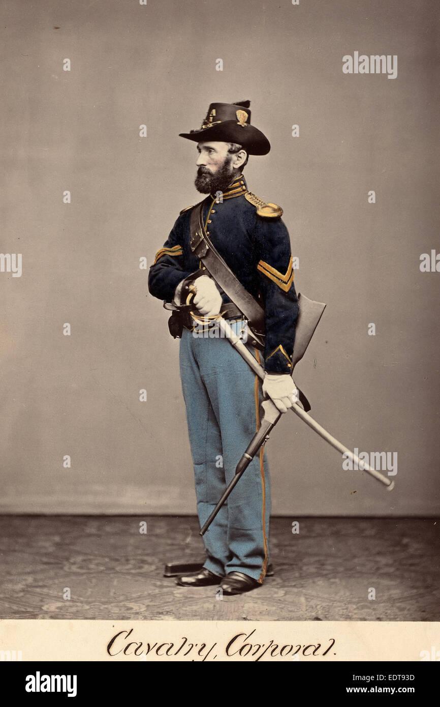 O.H. Willard's Galleries, Cavalry, Corporal, c. 1864, albumen print - Stock Image
