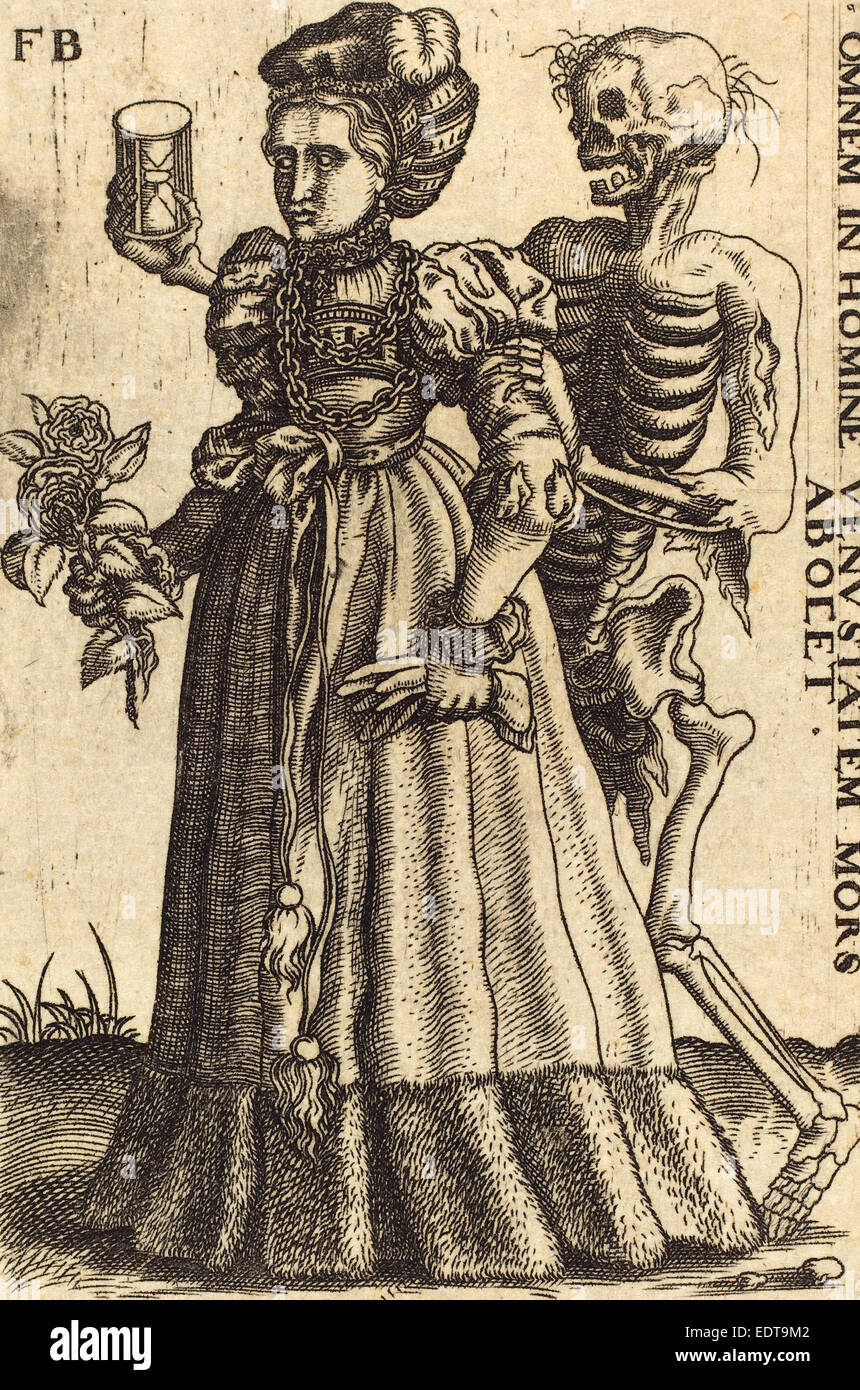 1590), Woman and Death, engraving