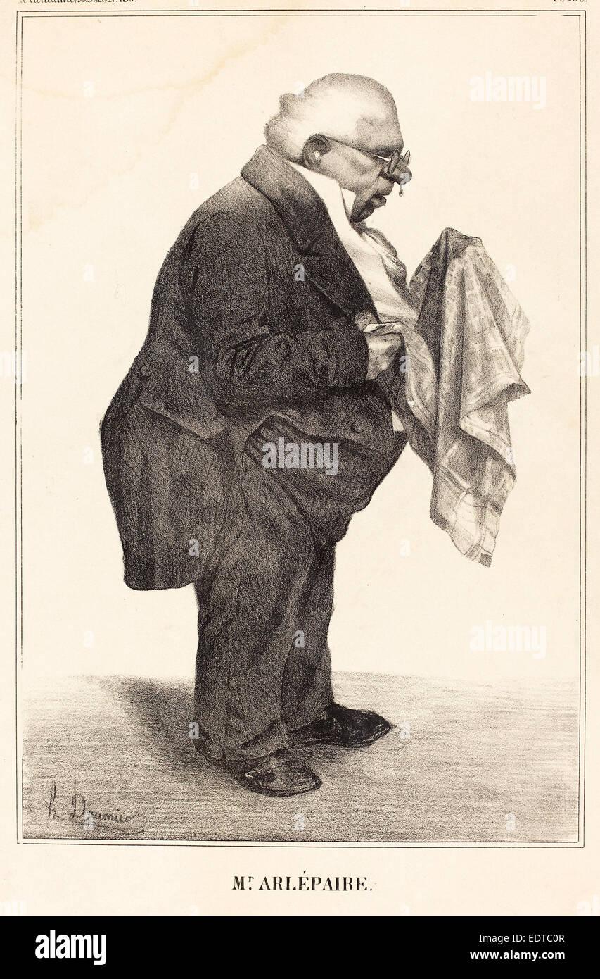 Honoré Daumier (French, 1808 - 1879), Harlé père, 1833, lithograph - Stock Image