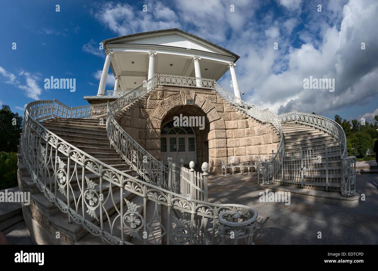 Cameron gallery in Tsarskoye Selo, Russia - Stock Image