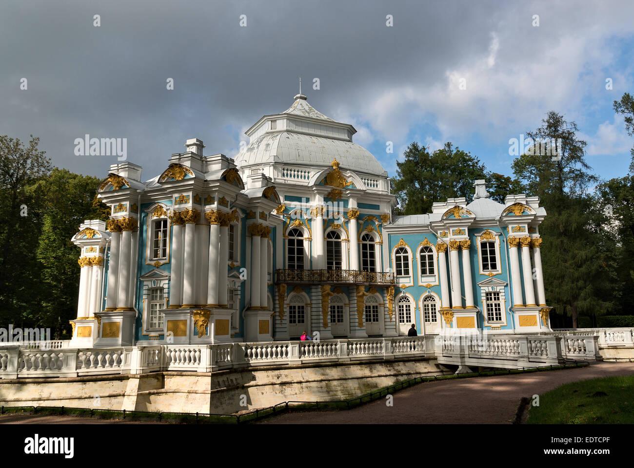 Hermitage in Tsarskoye Selo, Russia - Stock Image
