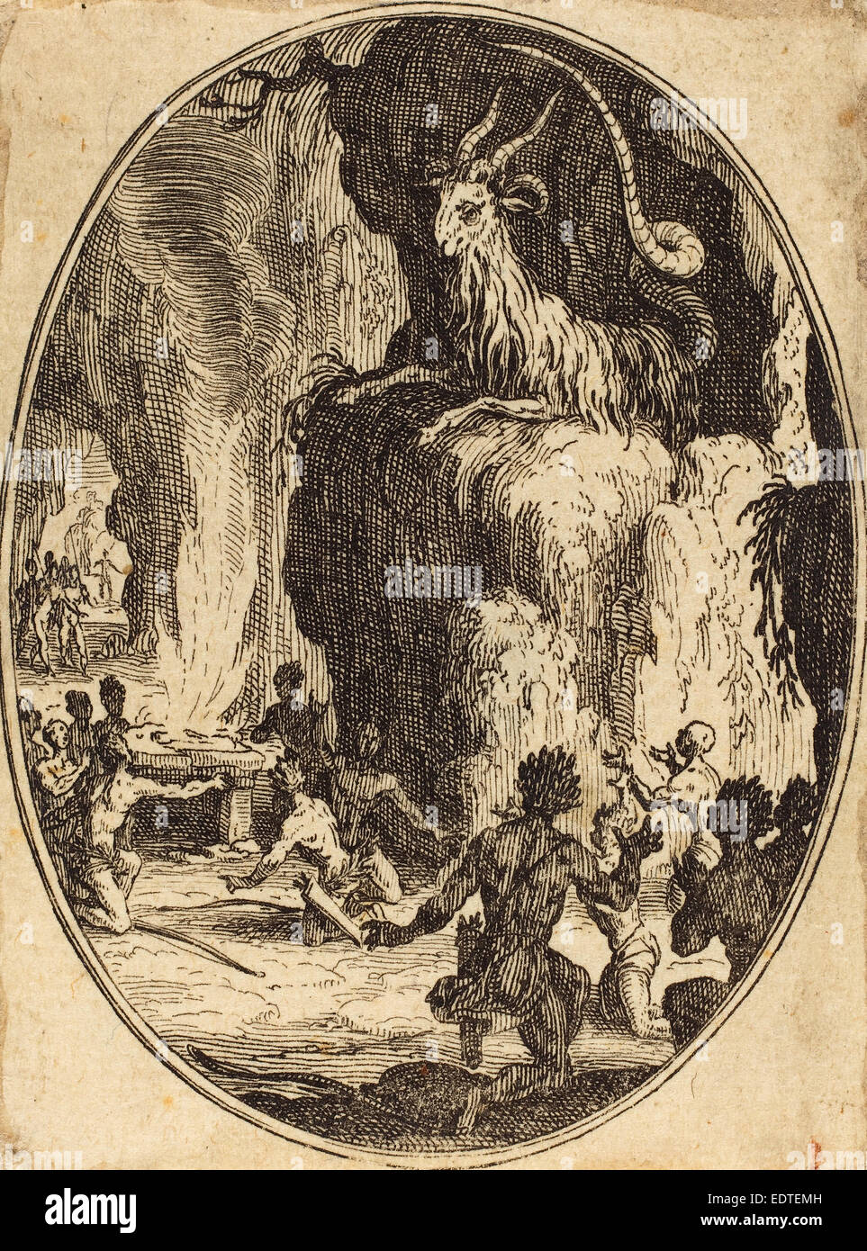 Jacques Callot (French, 1592 - 1635), The Cult of the Demon, probably 1627,  etching
