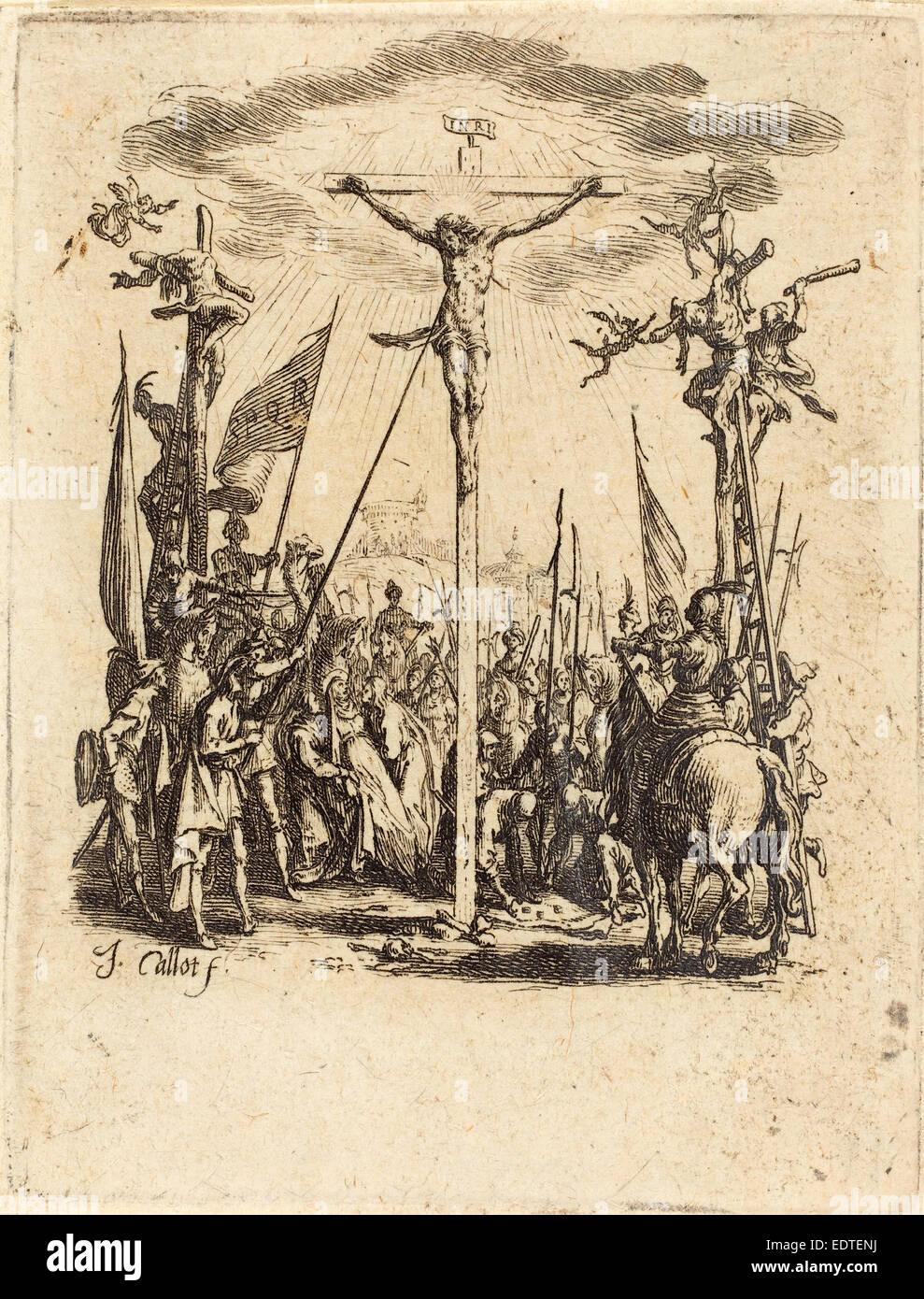 Jacques Callot (French, 1592 - 1635), The Crucifixion, c. 1624-1625, etching