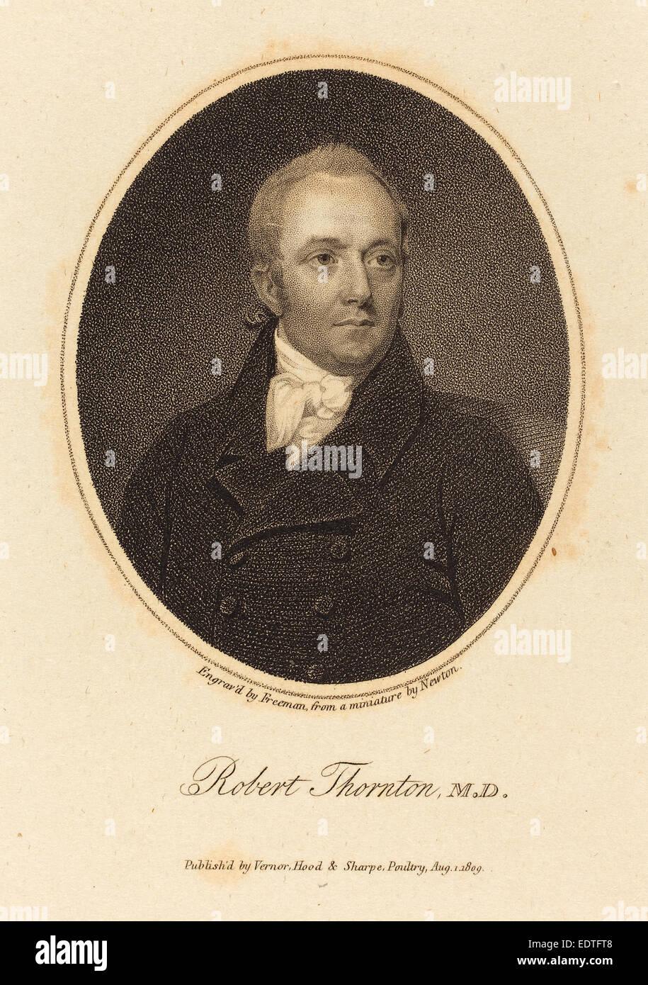 Samuel Freeman after William John Newton (British, 1773 - 1857), Robert Thornton, M.D., published 1809, stipple - Stock Image