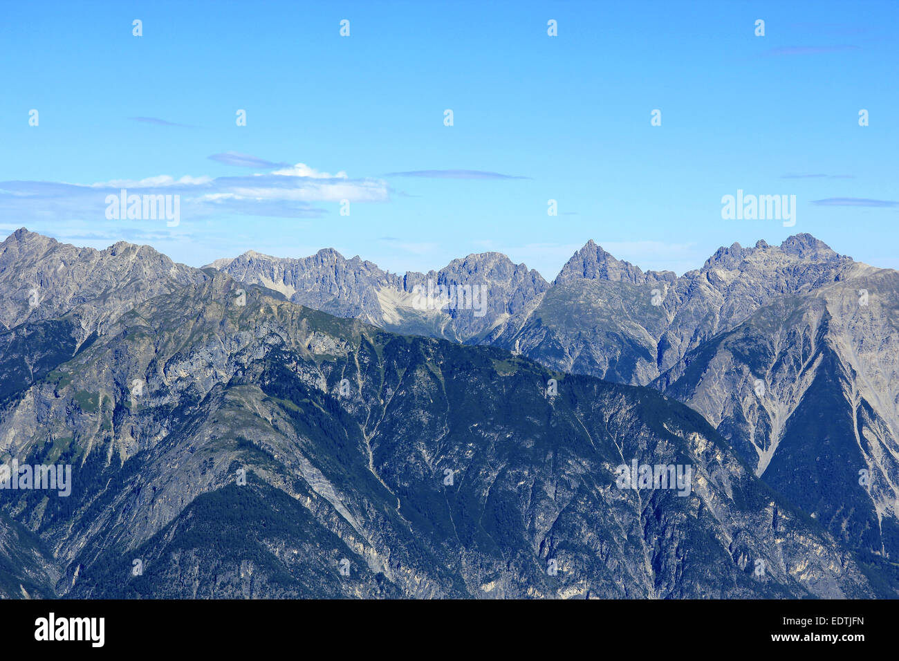 Gebirgslandschaft bei Fiss in Tirol, Österreich,Mountain Landscape at Fiss in Tyrol, Austria,alps, mountains, - Stock Image