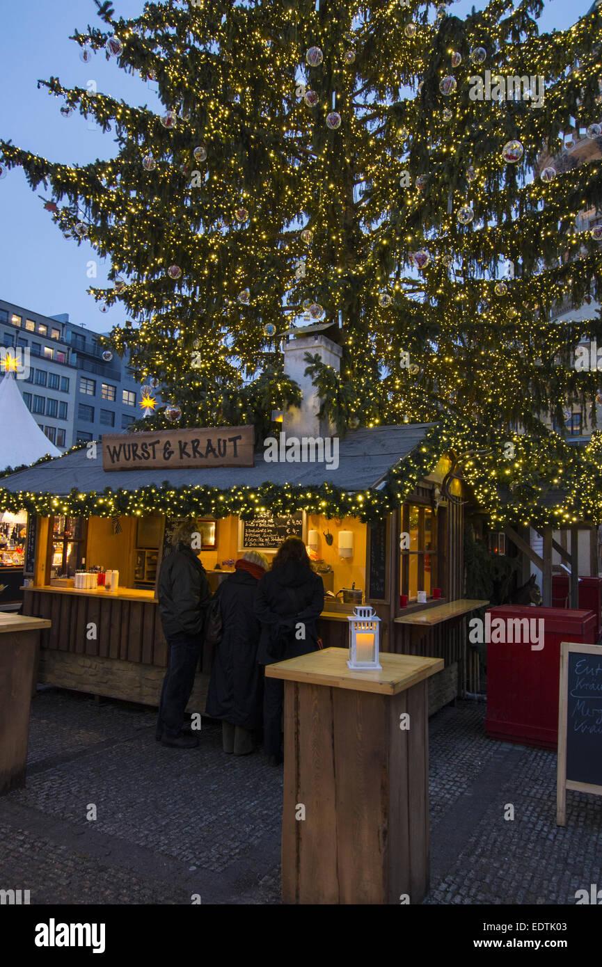 Weihnachtsmarkt W.Berlin Gendarmenmarkt Weihnachtsmarkt Stock Photos Berlin