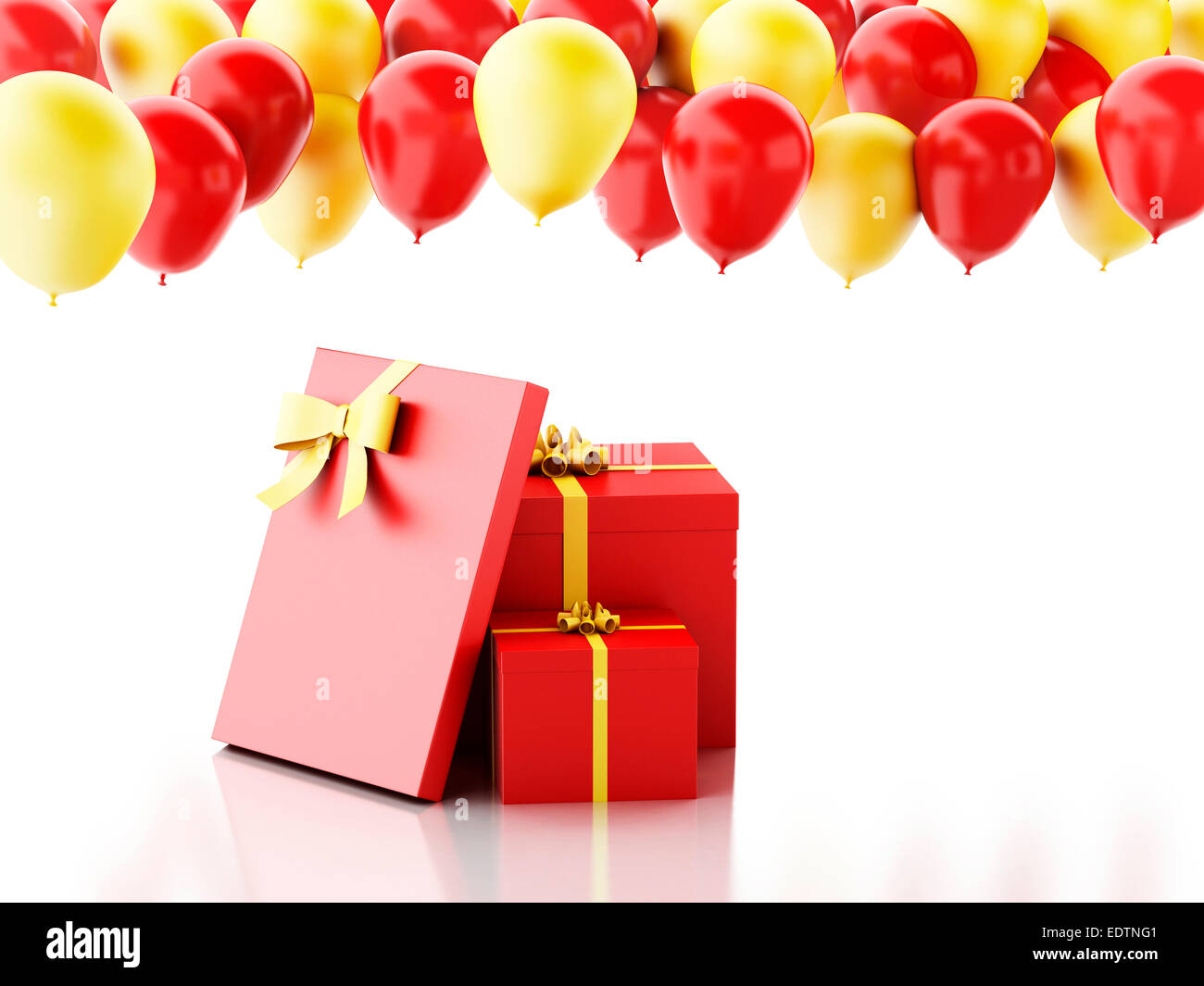 Red Happy Birthday Balloons Party Celebration Gift Wrapping Bday Present