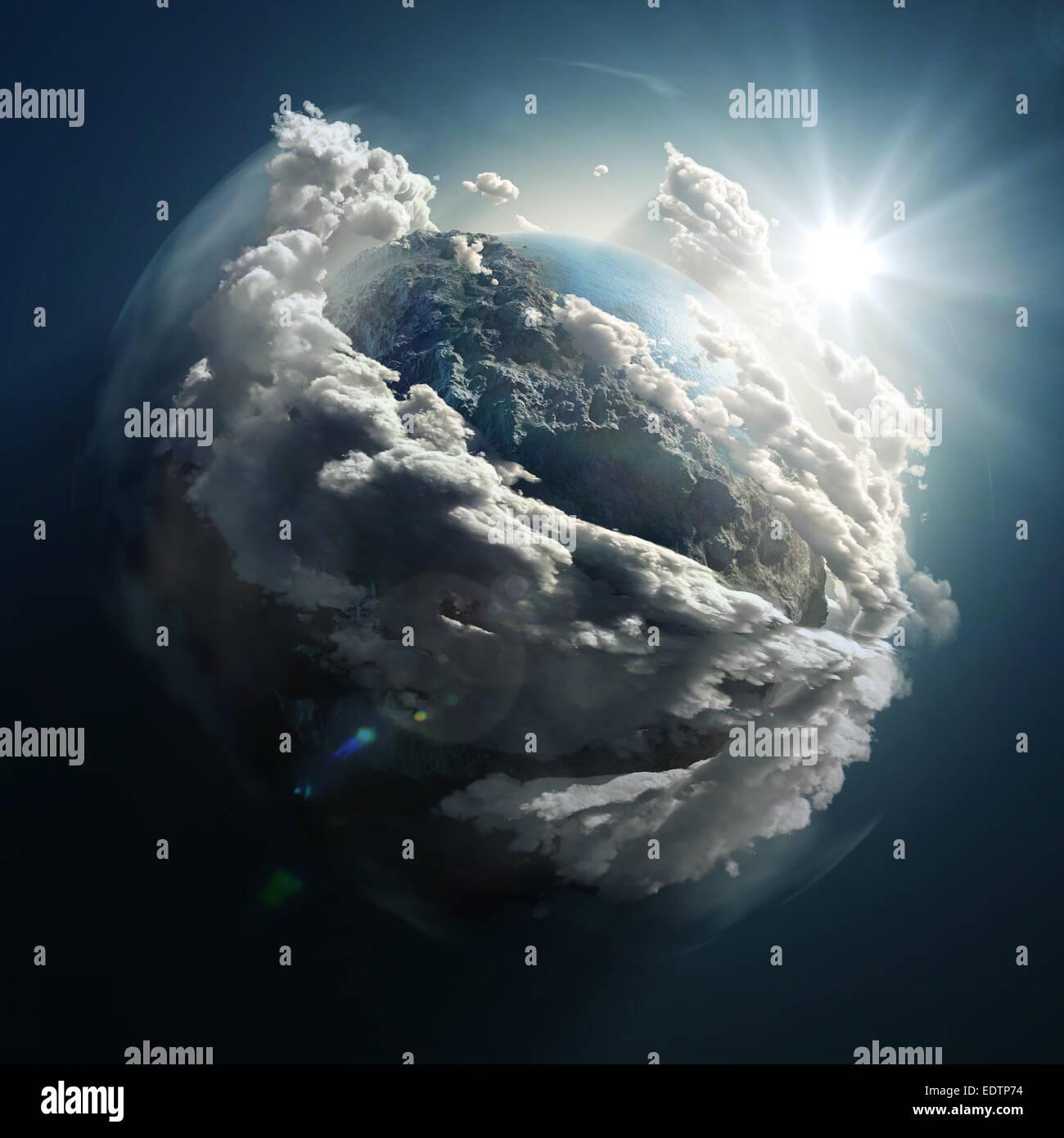 sunrise over the earth - Stock Image