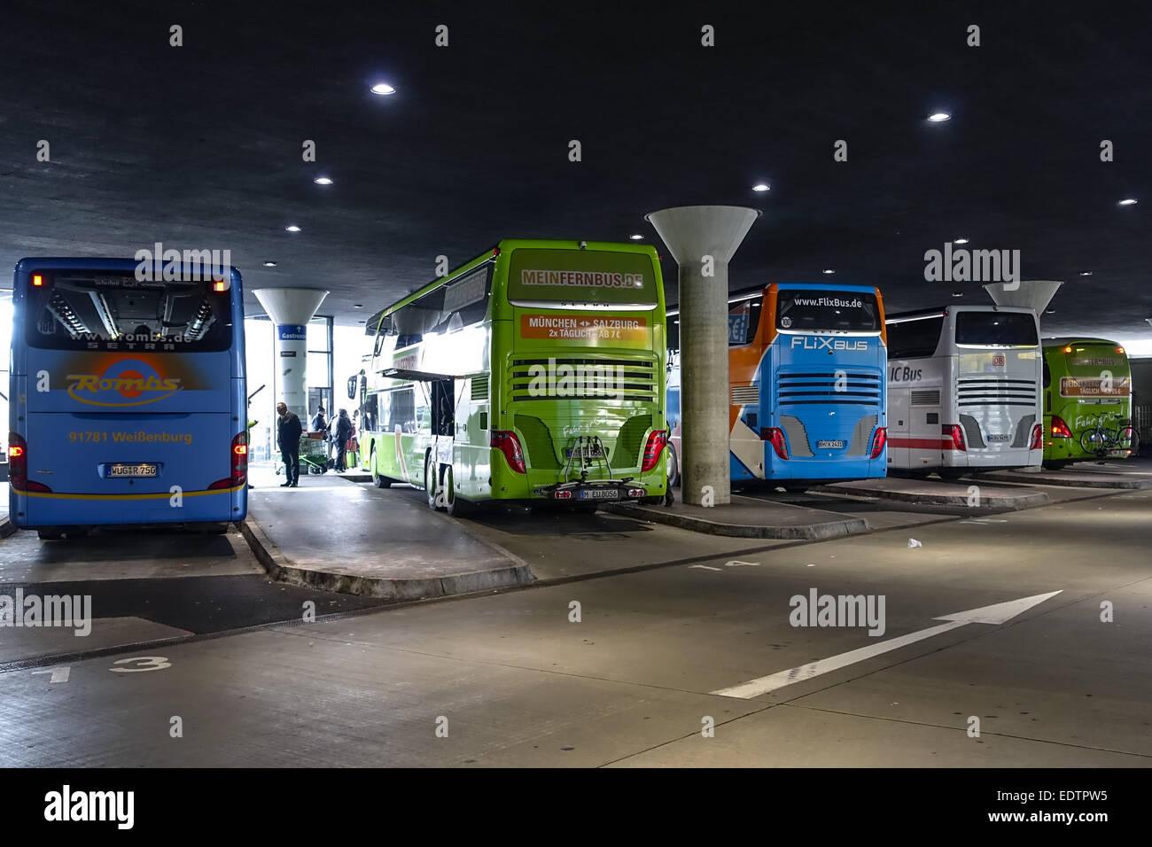 zentraler omnibusbahnhof zob m nchen oberbayern bayern stock photo 77376801 alamy. Black Bedroom Furniture Sets. Home Design Ideas