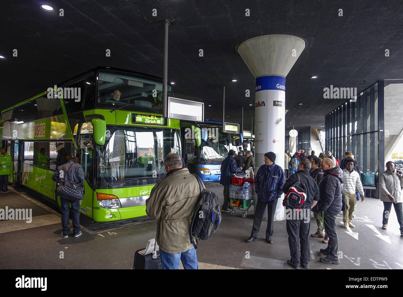 Zentraler Omnibusbahnhof, ZOB, München, Oberbayern, Bayern, Deutschland, Europa,Zentraler Omnibusbahnhof, Central - Stock Image