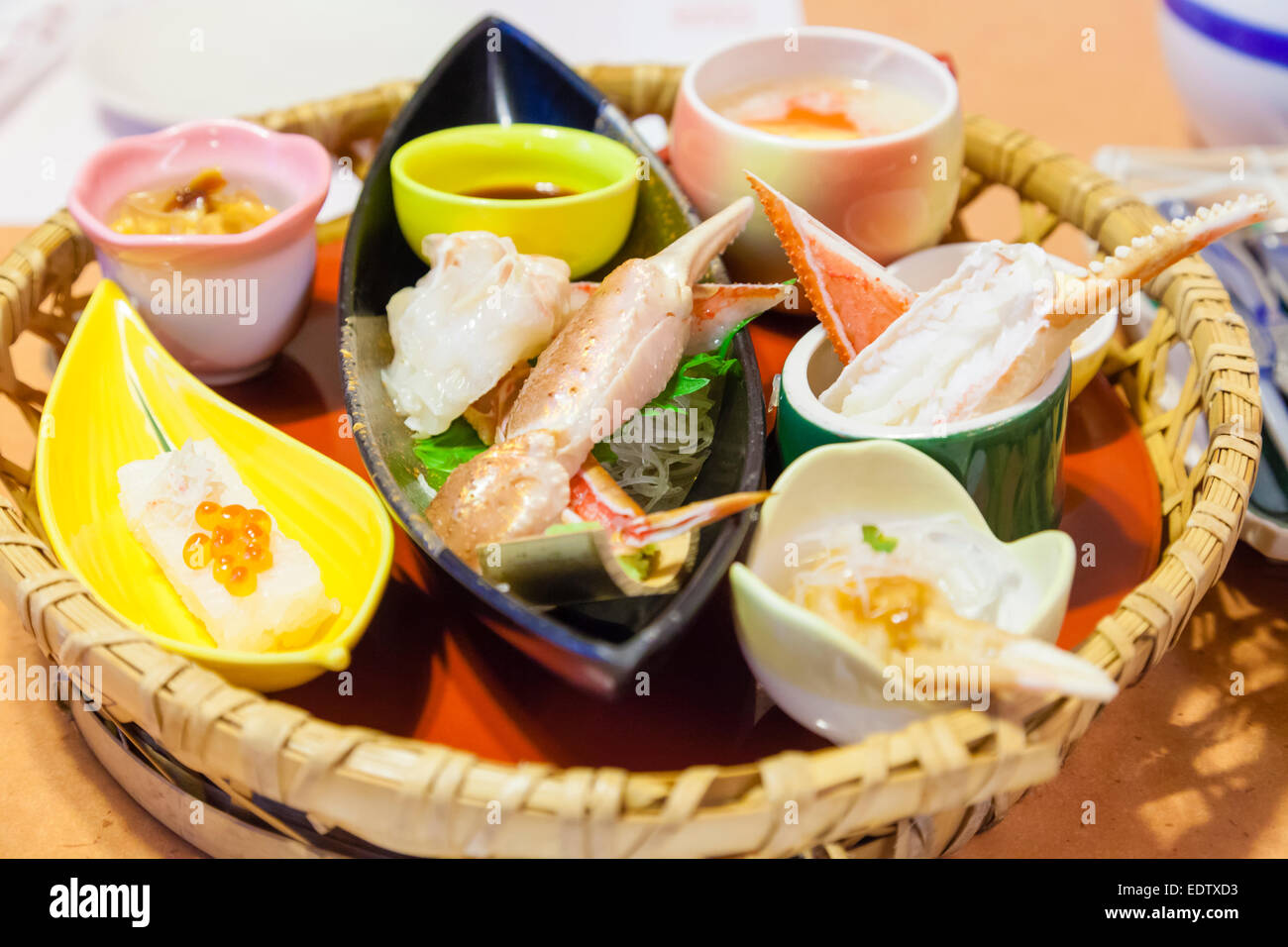 Japanese crab feast - Stock Image
