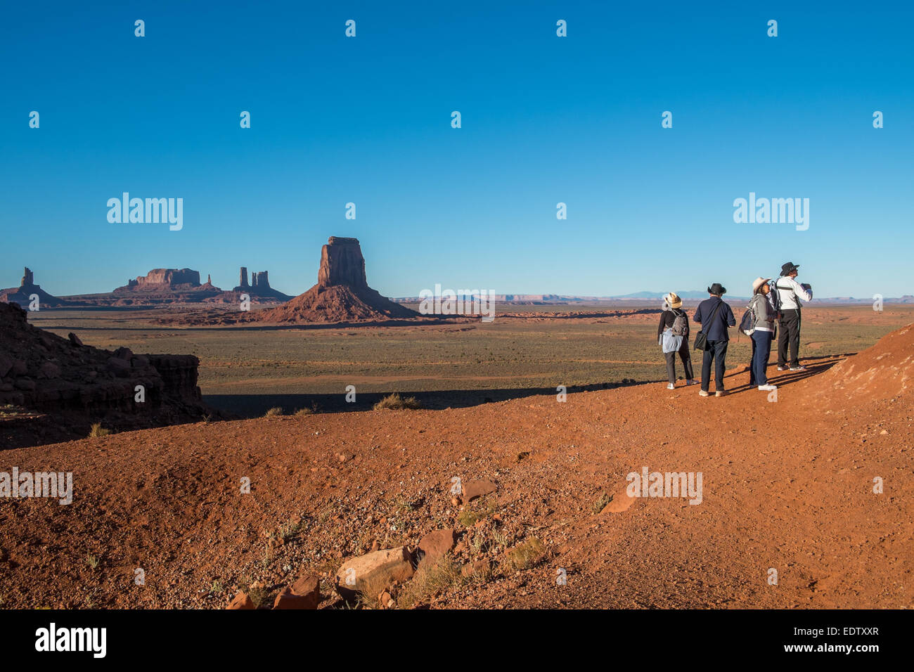 Scenic view at the North Window in Monument Valley - Stock Image