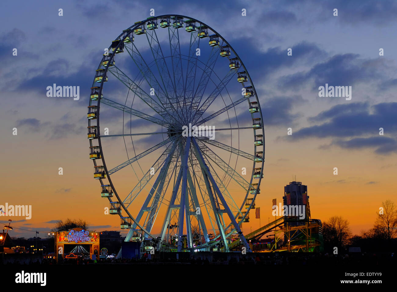 big wheel funfair london stock photos big wheel funfair london