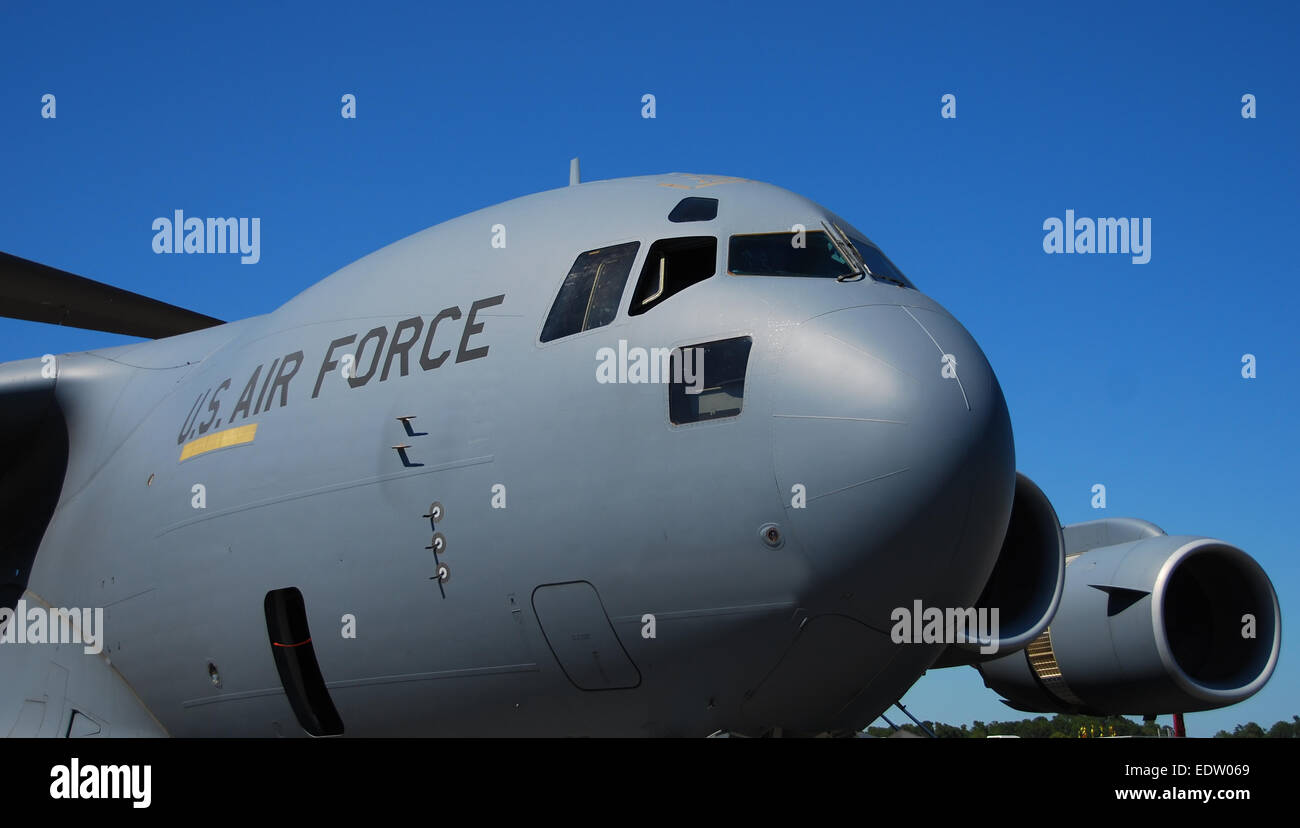 C-17 Globemaster US Air Force heavylift transport - Stock Image