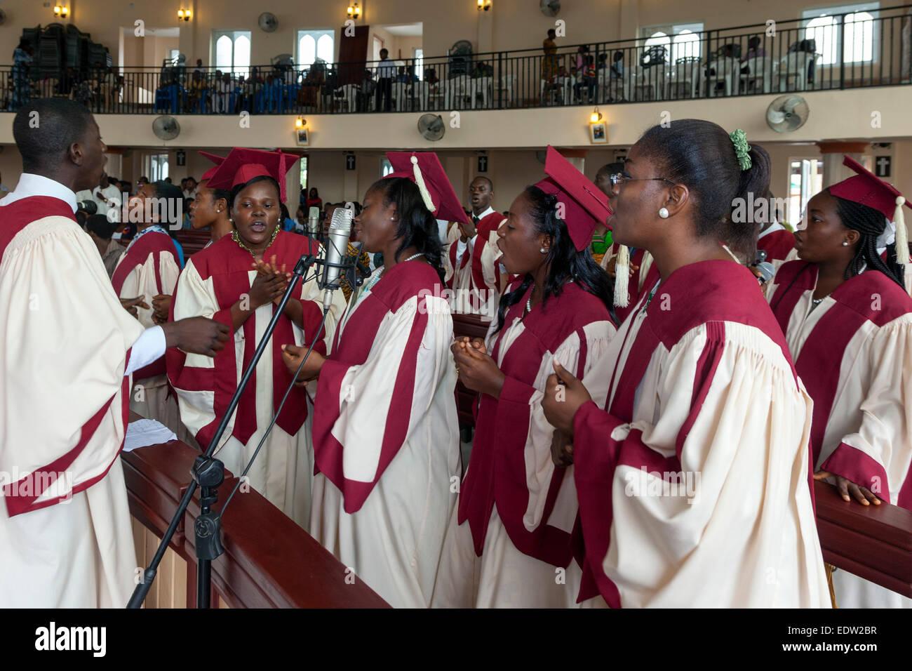 St. James church choir, Osu, Accra, Ghana, Africa Stock ...