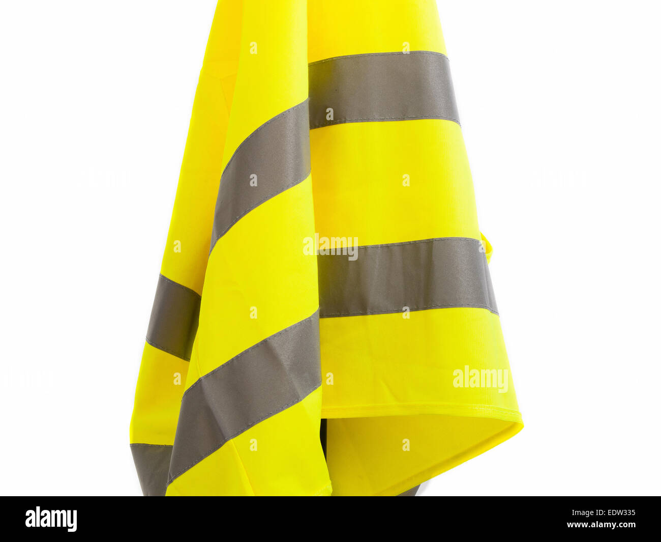 Reflective vest isolated on white background - Stock Image
