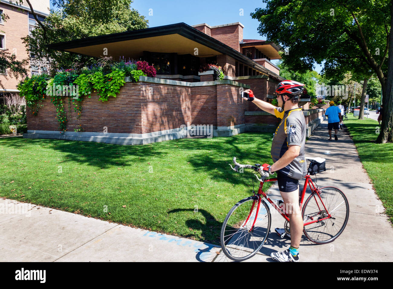 Chicago Illinois Hyde Park Frederick C. Robie House National Historic Landmark campus University of Chicago architect - Stock Image