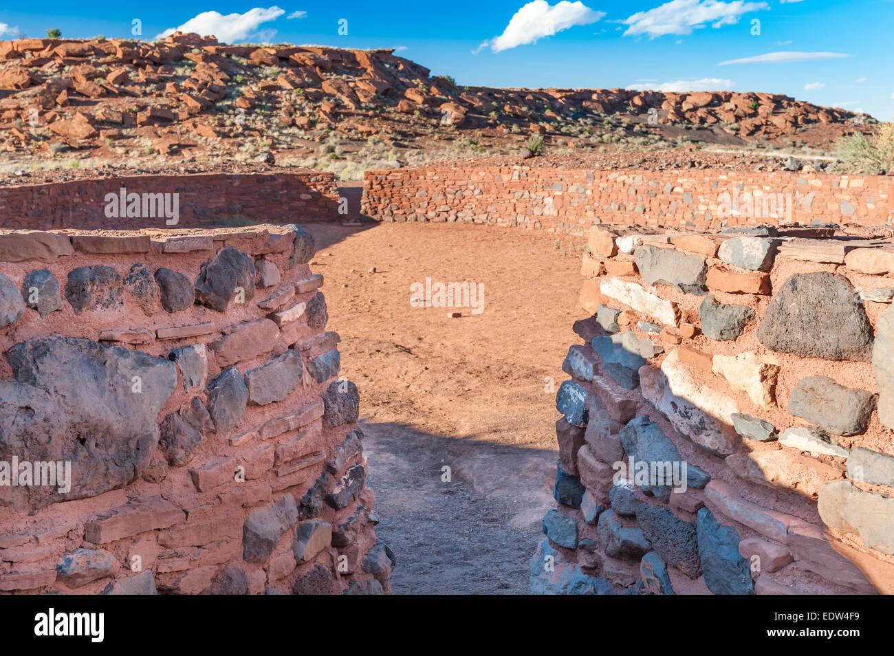 Ball court, Wupatki National Monument, AZ, US - Stock Image