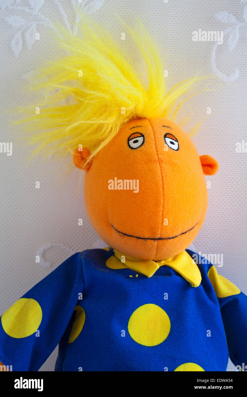 Tweenies Jake character soft cuddly toy - Stock Image