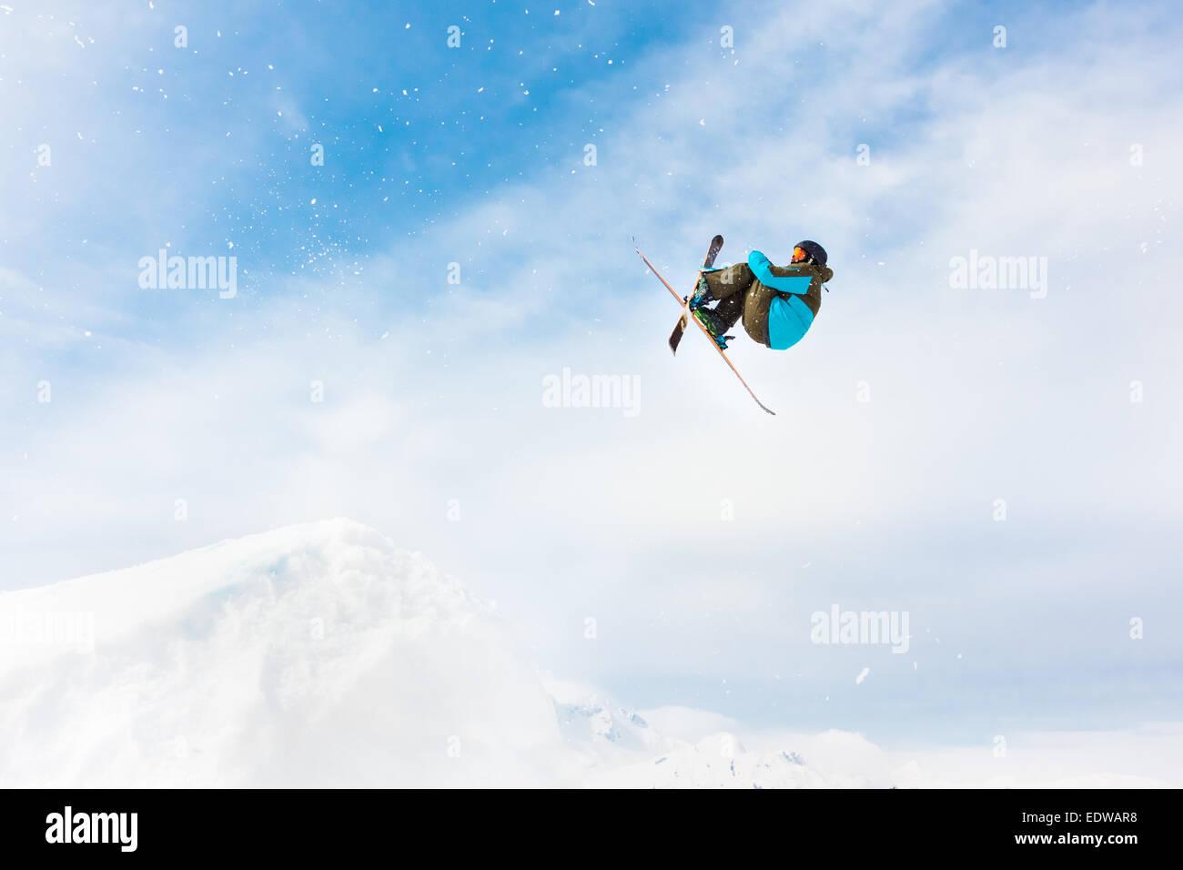 Free style skier. - Stock Image