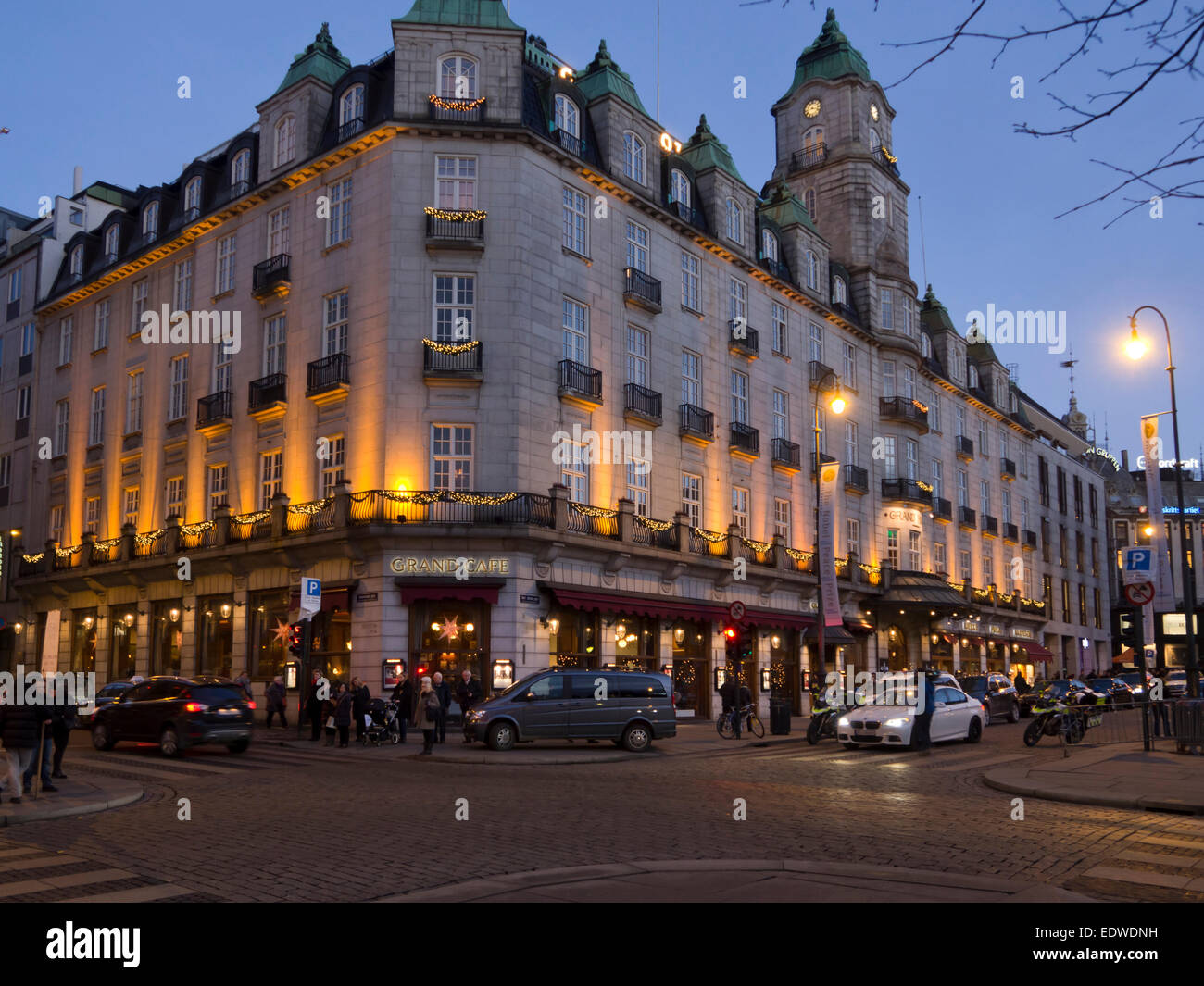 Grand Hotel centrally placed upscale hotel in Karl Johans gate Oslo Norway, accommodation for distinguished visitors Stock Photo