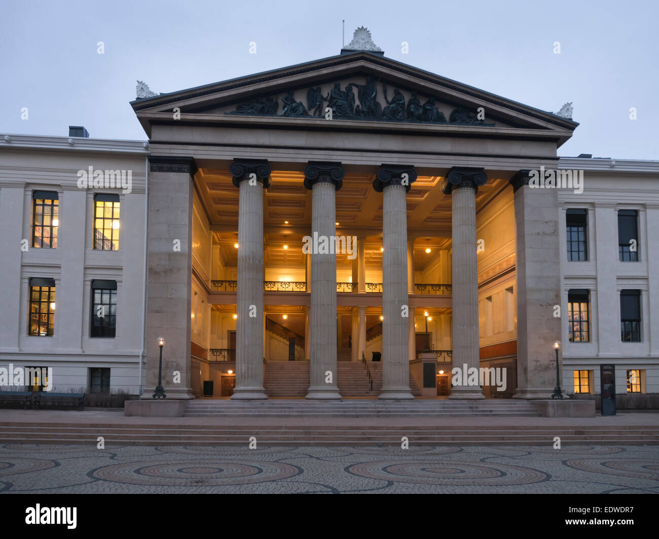 Universitetets aula, Domus Media  central assembly hall of the Norwegian Oslo university used for concerts contains - Stock Image