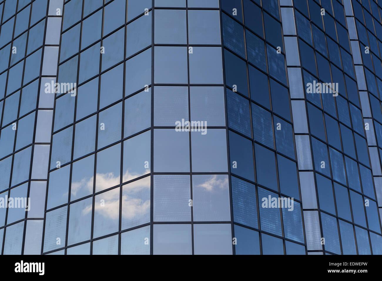 Sky-scraper windows,office building - Stock Image