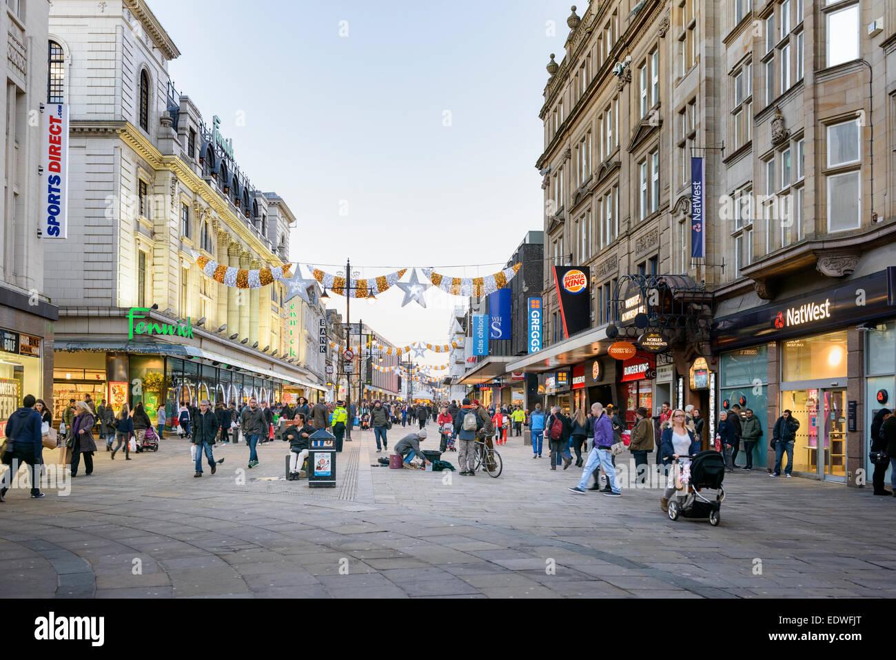 Northumberland Street Newcastle upon Tyne - Stock Image