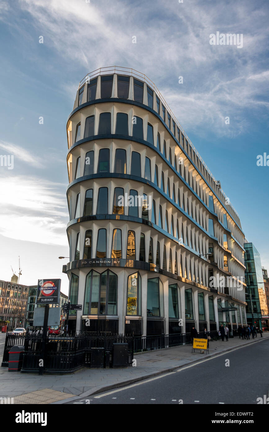 30 Cannon Street is a commercial office development in the City of London - Stock Image