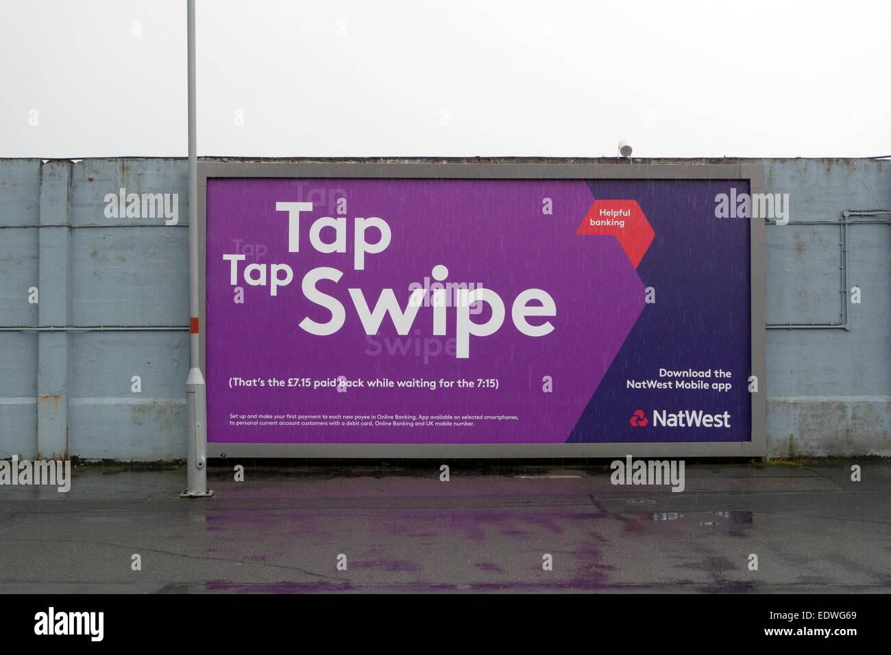 Tap Tap Swipe NatWest Bank Mobile Banking App advert