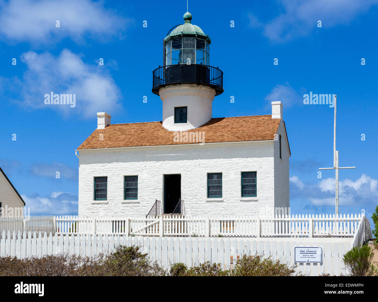 Old Point Loma Lighthouse, Cabrillo National Monument, Point Loma, San Diego, California, USA - Stock Image