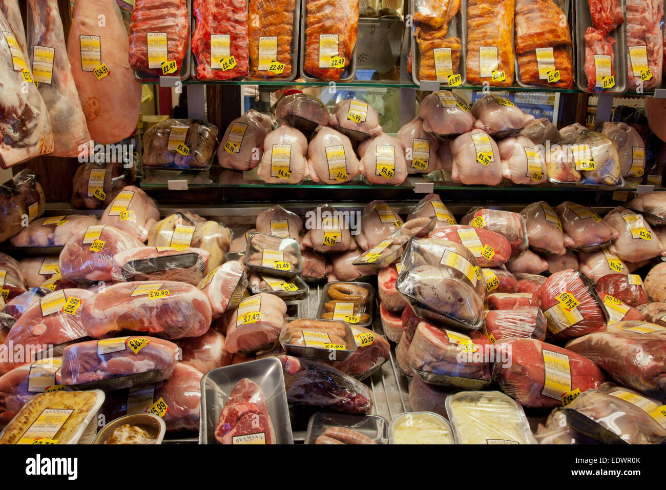 Butchers Display Stock Photos Butchers Display Stock