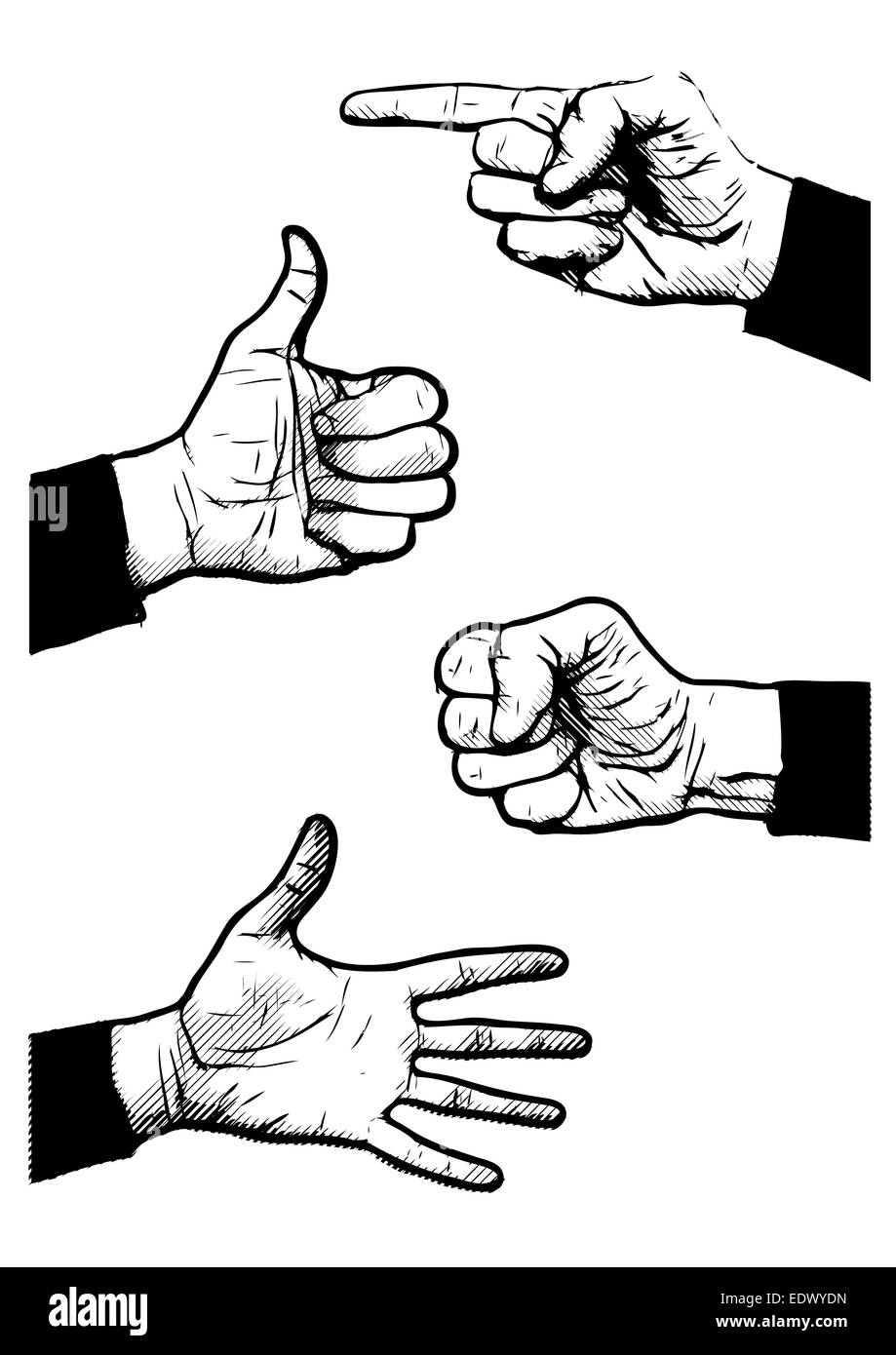 Gesture Ok Sign Icon Symbols Black And White Stock Photos Images
