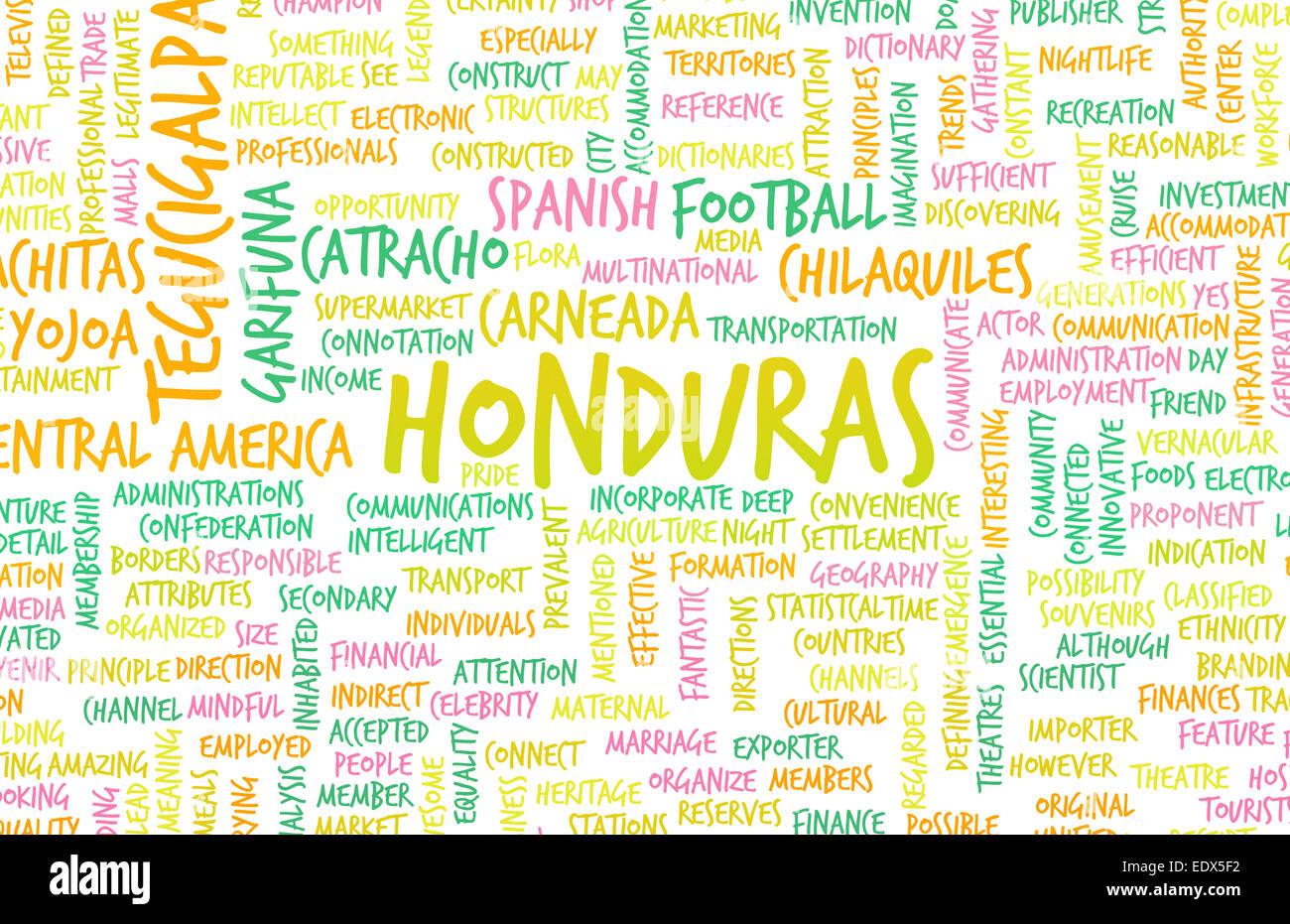 Honduras as a Country Abstract Art Concept Stock Photo