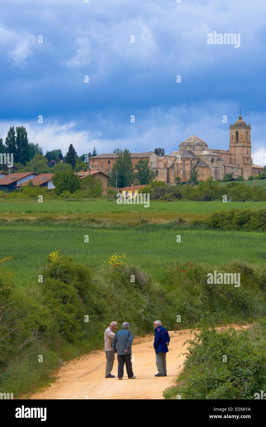 Irache Monastery, Camino de Santiago, Navarra, Ayegui, Navarre, Way of St James - Stock Image