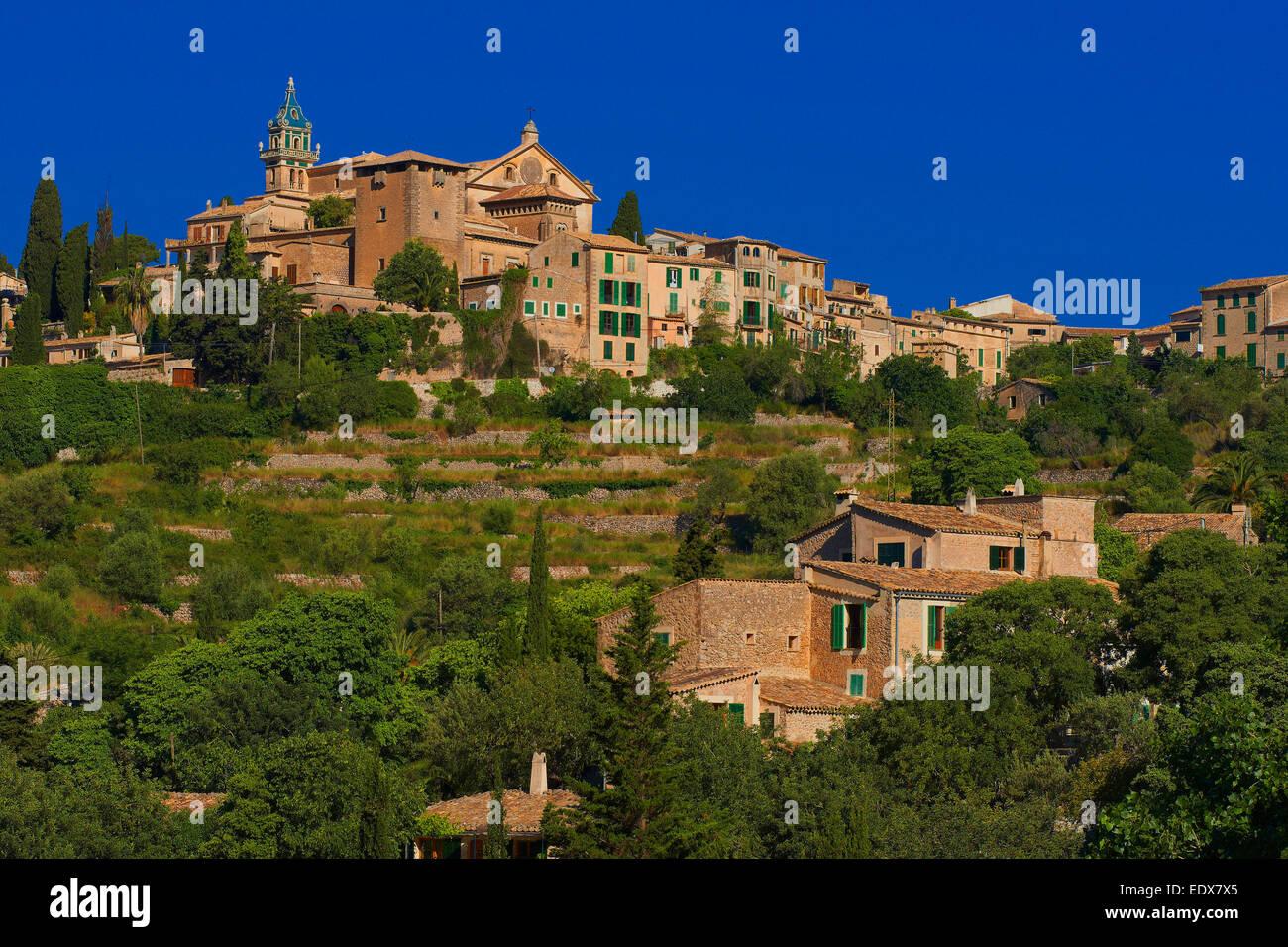 Mallorca, Valldemosa, Majorca, Serra de Tramuntana, World Heritage Site, Balearic Islands / Valldemossa Stock Photo