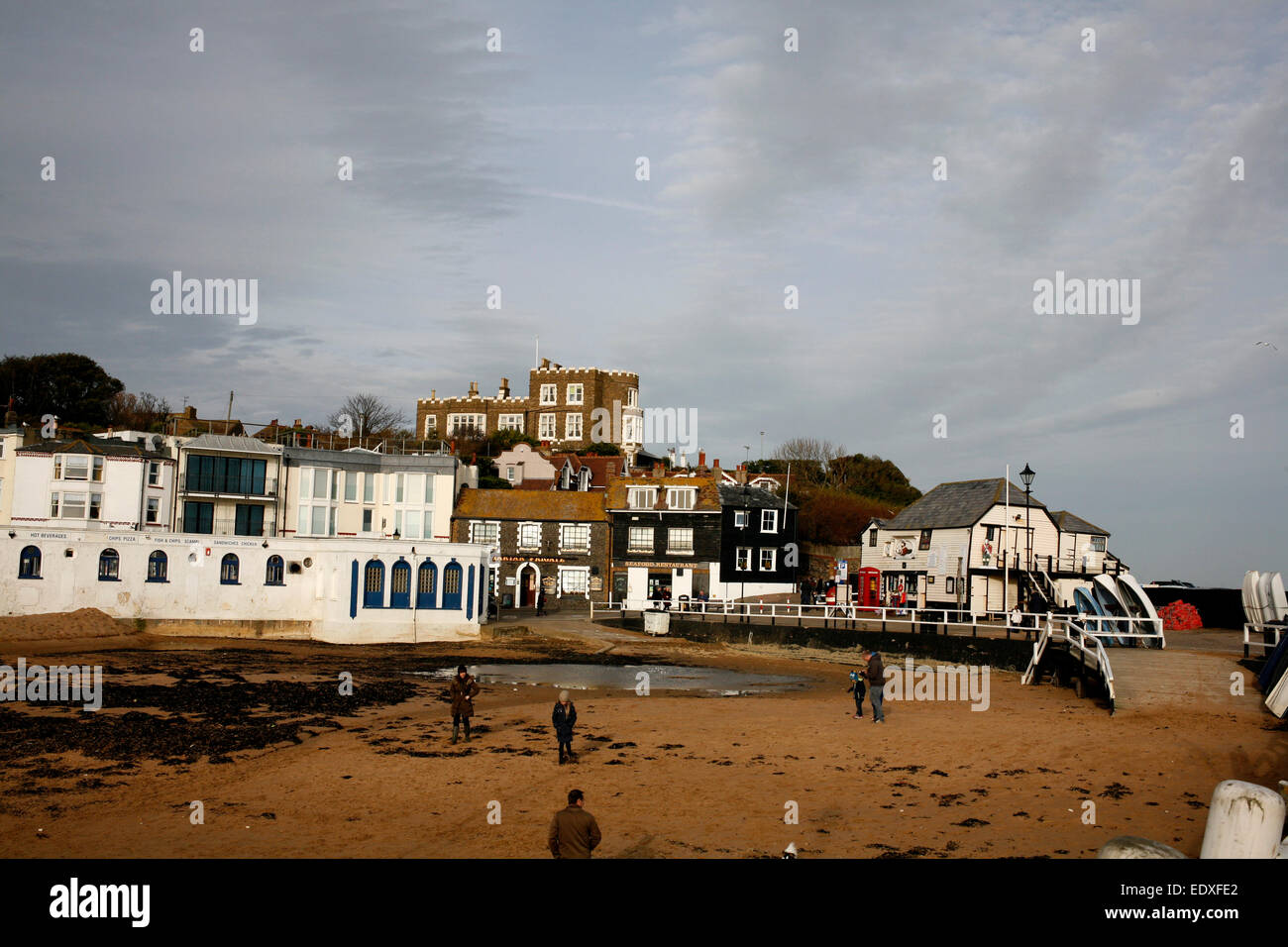 coastal town of broadstairs in south east county of kent uk january 2015 - Stock Image
