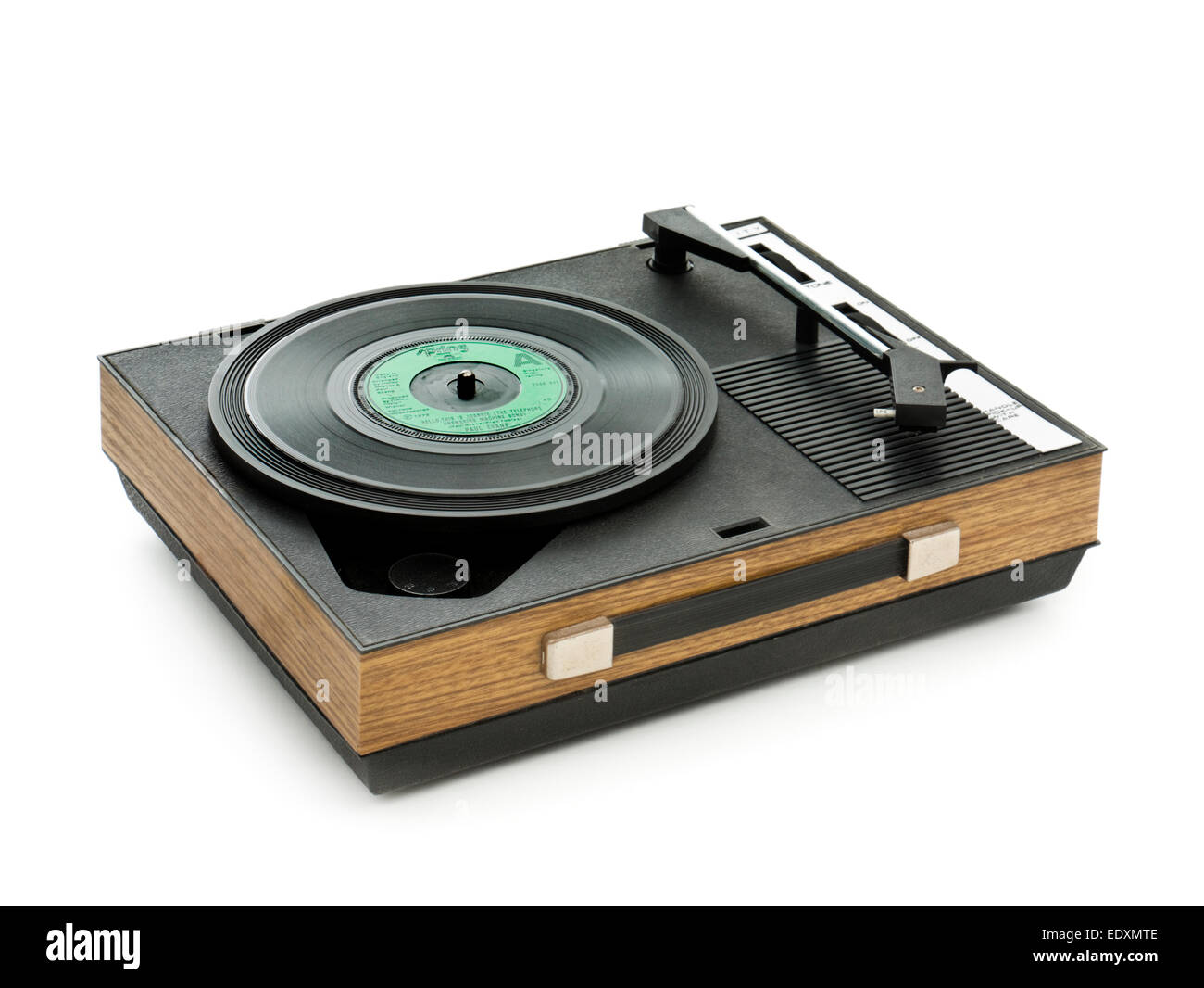 Vintage 1970's Fidelity HF42 portable record player - Stock Image