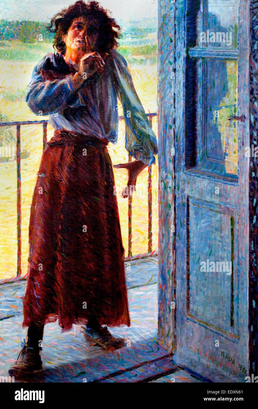 La pazza  - The Madwoman 1905   Giacomo Balla, Italy, Italian. - Stock Image