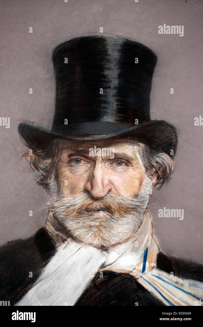 Giuseppe Fortunino Francesco Verdi 1813 – 1901 ( Romantic composer primarily known for his operas ) 1886 Boldini - Stock Image