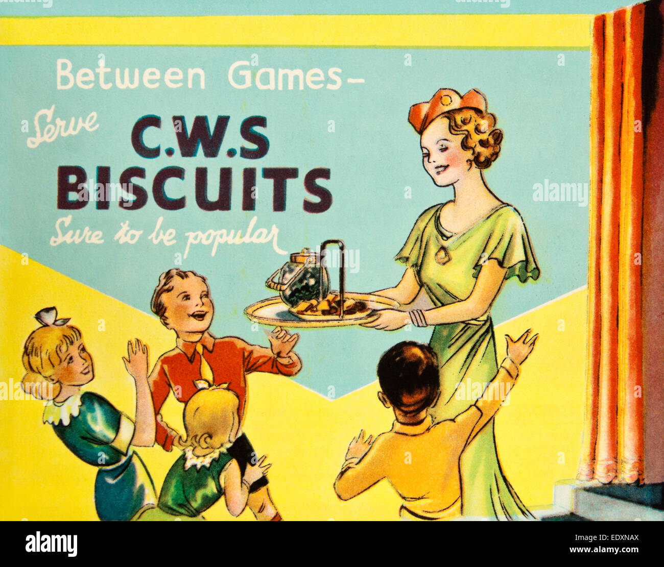 Vintage 1930s advert for CWS biscuits Co operative Wholesale Stock
