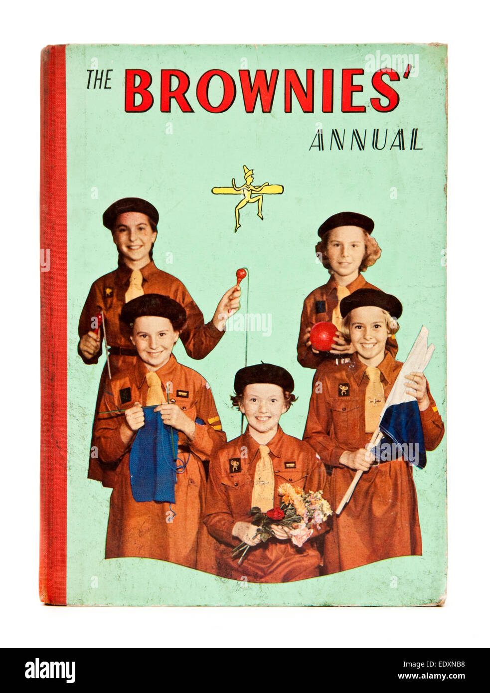 1960 copy of 'The Brownies' Annual'. The Brownies are a British girl guiding association founded by - Stock Image