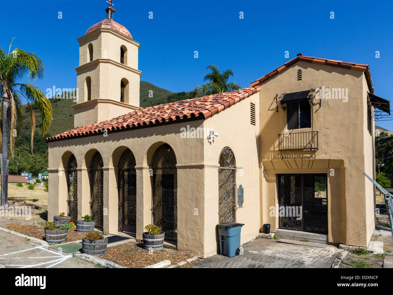 The derelict Motel Inn, formerly the Milestone Mo-Tel, the world's first motel opened in 1925, San Luis Obispo, - Stock Image